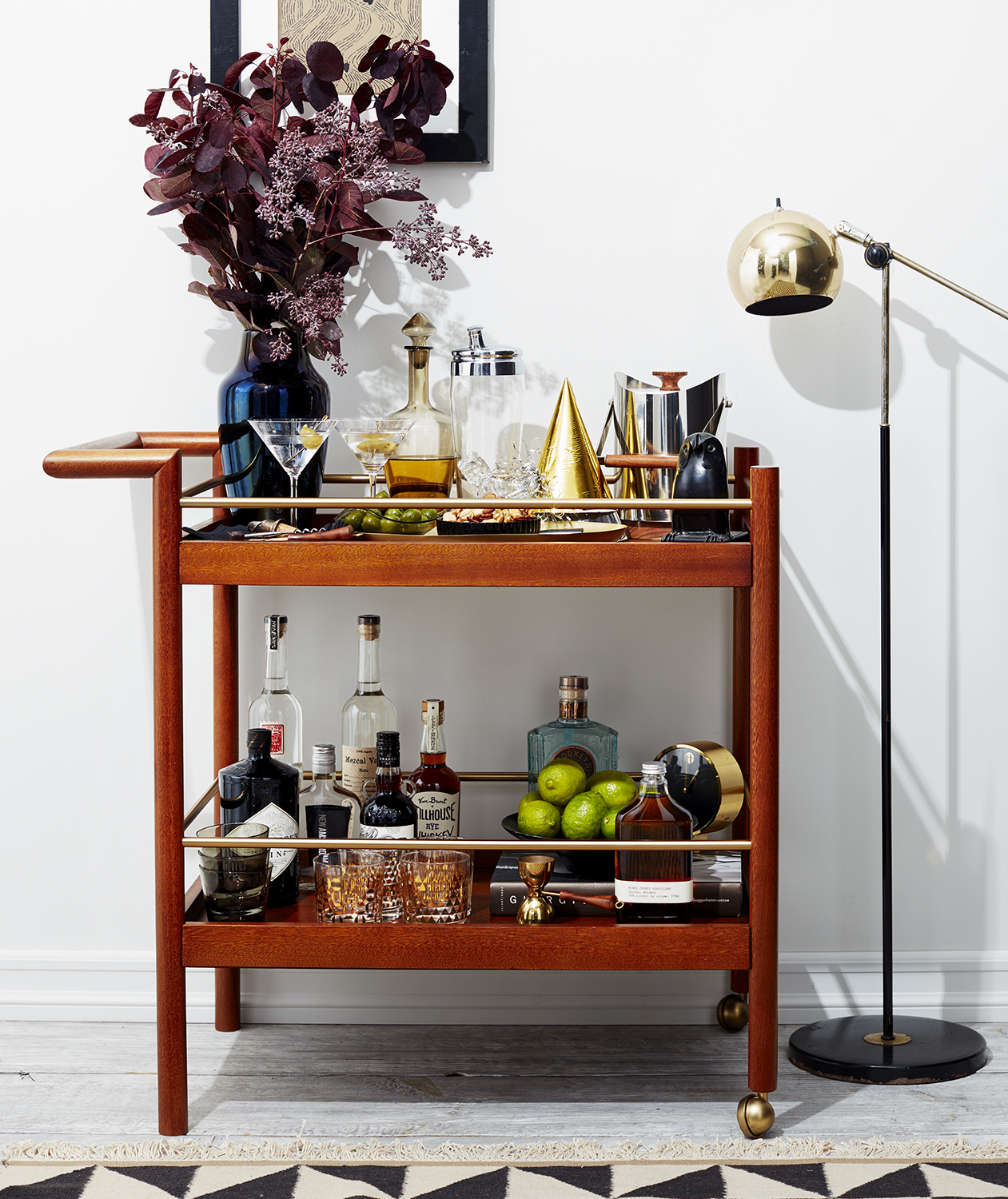 party central bar cart - How To Style A Bar Cart