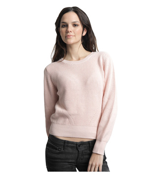 525 America Cotton Shaker Crop Crew Pretty in Pink
