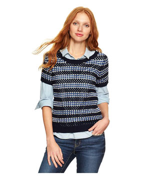 Gap Stripe Open Knit Top
