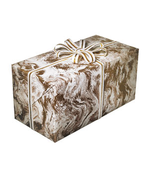 Honey Gold Italian Marble gift wrap