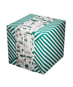 Two-sided trees gift wrap