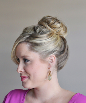 Fancy bun hairstyle