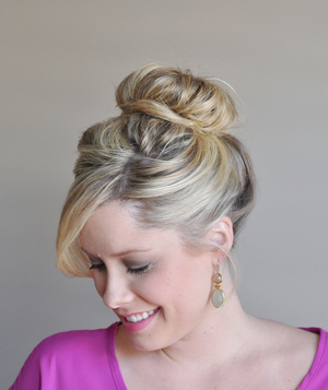 Perfect bun hairstyle step 8