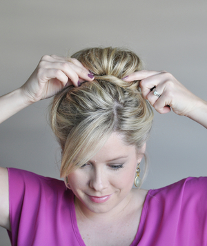 Perfect bun hairstyle step 7
