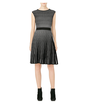 Calvin Klein Sleeveless Striped Sweater Dress