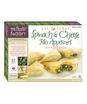 The Fillo Factory Spinach and Cheese Fillo Appetizers