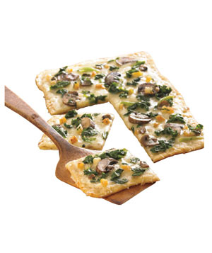 Schwan's Spinach and Mushroom Flatbread Thin Crust Pizza
