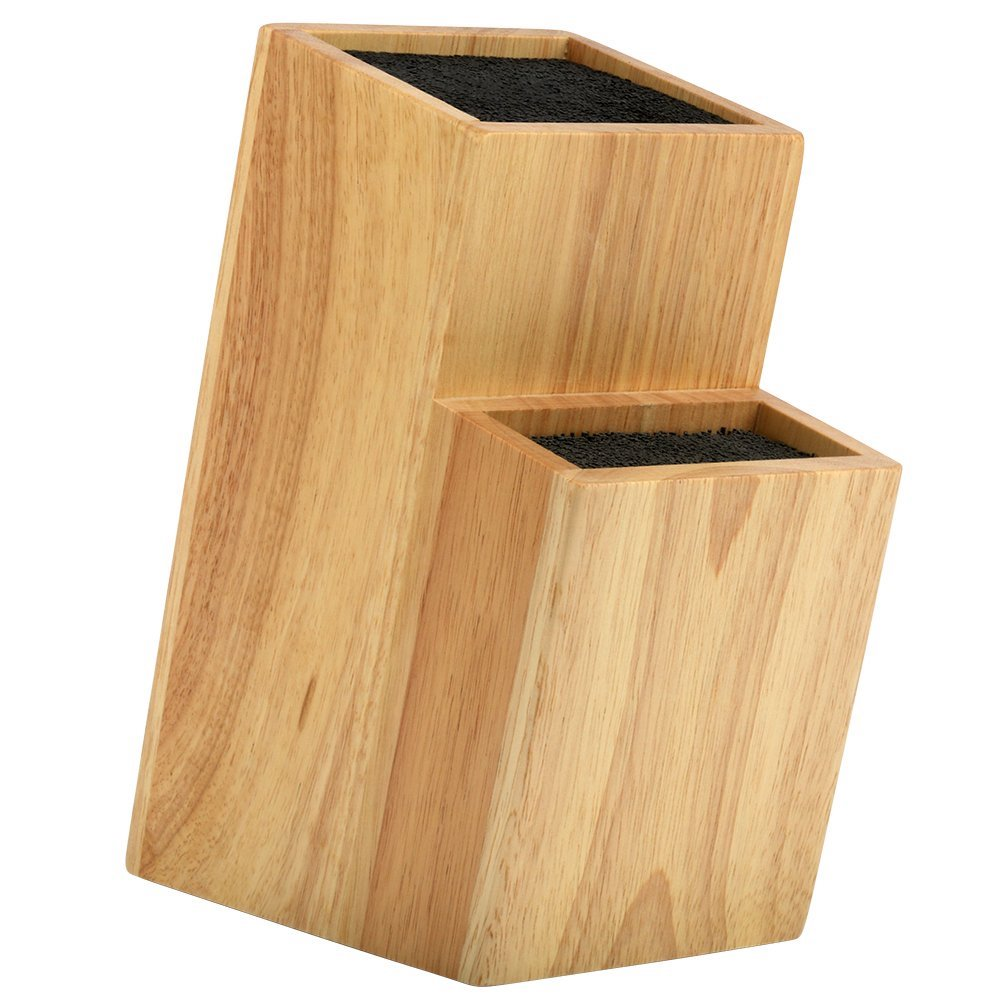 Gifts for Foodies: Mantello 2 Tier Universal Wood Knife Block on Amazon