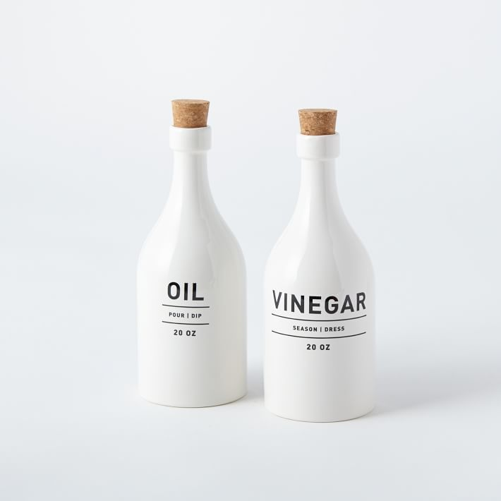 Gifts for Foodies: West Elm Utility Kitchen Collection, Oil + Vinegar Set