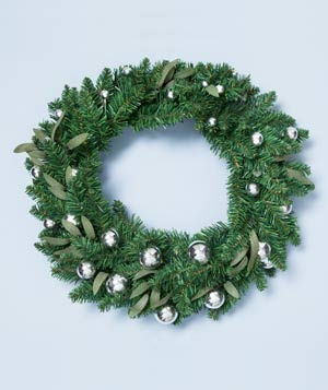 Faux green wreath