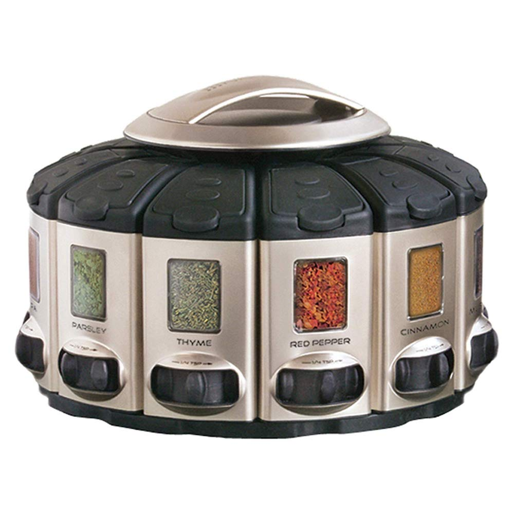 Gifts for Foodies on Amazon: KitchenArt Select-A-Spice Auto-Measure Carousel, Spice Rack with Spices Included