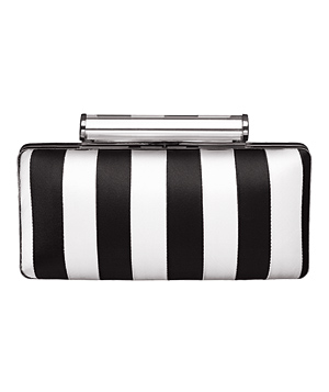 Banana Republic clutch of Lucite and polyester satin