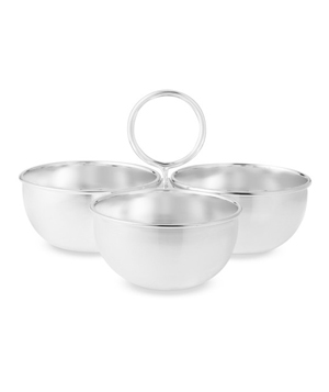 Presidio 3-Section Condiment Serve Bowl With Handles