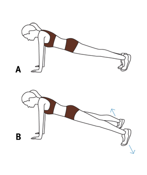 Illustration: jumping-jack planks
