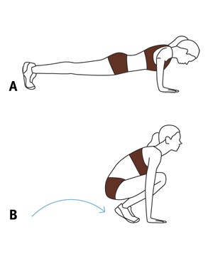 Illustration: push-up and pop-ups