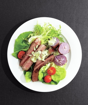 Steak Salad With Blue Cheese Butter