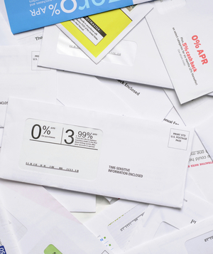 Credit card offer envelopes