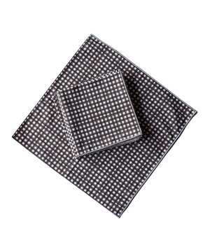 Gingham Organic Cotton Napkins