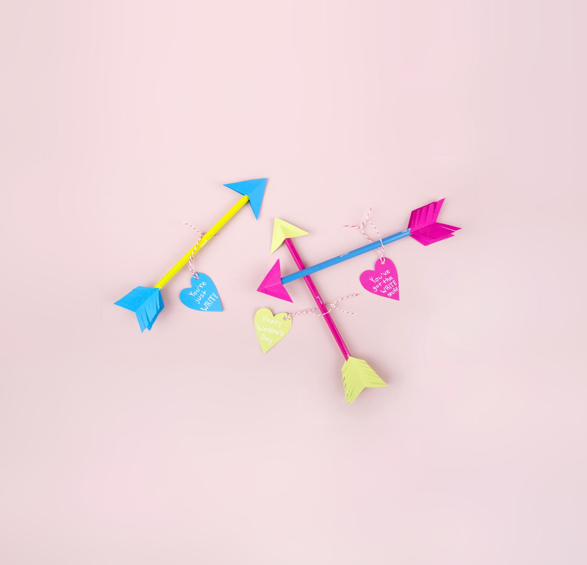 Pencil Arrow Valentine