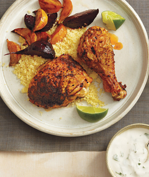 Roasted Chicken and Beets With Couscous and Yogurt Sauce