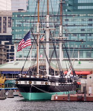 Ship in Baltimore harbor