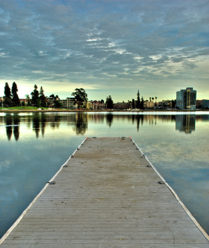 Lake Merritt pier, Oakland, California