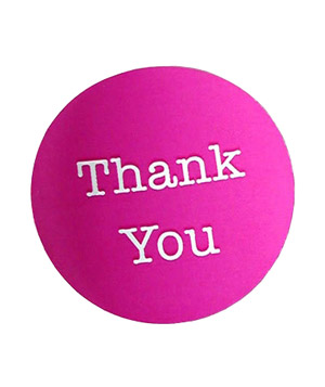 Circle Thank You Sticker Label