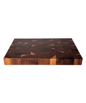 End-grain butcher-block cutting board