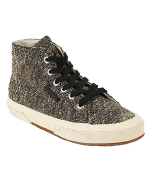 Superga x Man Repeller Tweed High-Top Sneakers