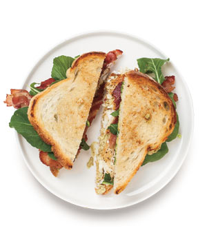 Bass, Bacon, and Arugula Sandwich