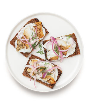 Open-Faced Bass Sandwich