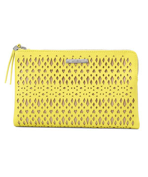 Stella & Dot Double Clutch Citrine Perf
