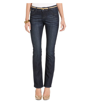 Lee Platinum Elise Perfect-Fit Straight-Leg Jeans, Neptune Wash
