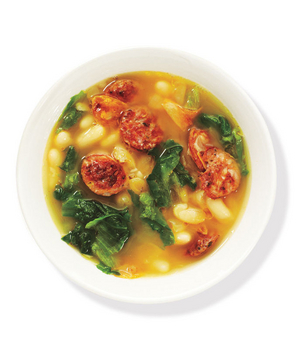 White Bean and Escarole Soup With Chicken Sausage