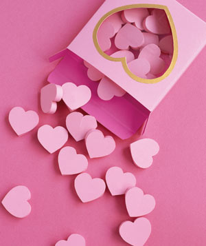 Paper construction of a box of Sweethearts by Matthew Sporzynski