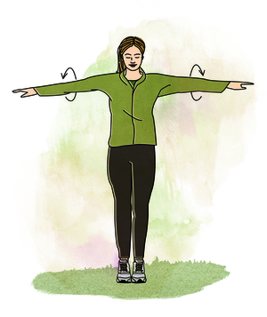 Illo: woman doing arm circles