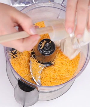 Dip ingredients in a food processor