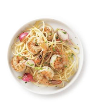 Shrimp and Tarragon Spaghetti