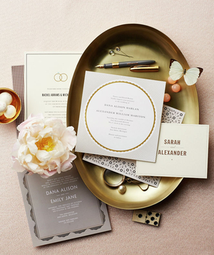 Tray with wedding invitations - Landscape