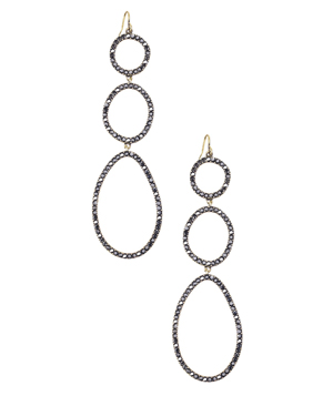 Chloe + Isabel Crystal Pavé Link Long Drop Earrings