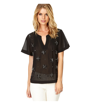 Forever 21 Shine On Georgette Blouse
