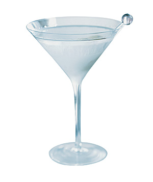 Clear martini glass
