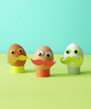 Easter egg mustache men