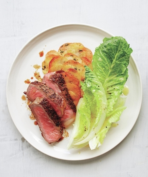Strip Steak With Crispy Gratin-Style Potatoes