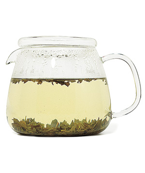 Pitcher of green tea