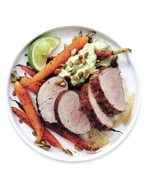 Mexican Pork Tenderloin and Carrots