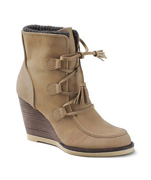 Lands' End Women's Tenley Wedge Booties