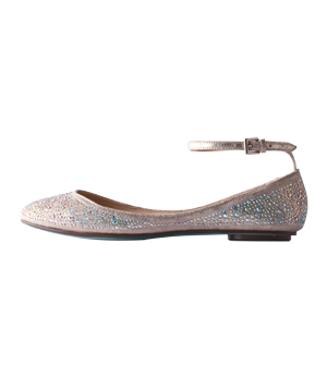 Betsey Johnson faux-leather flats