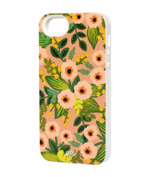 Peach Floral iPhone 5 + 5s Case