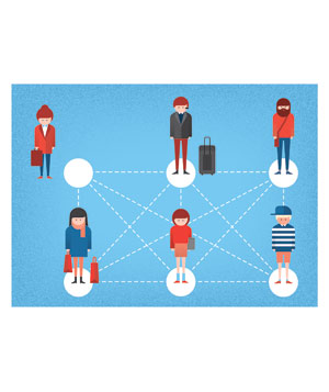 Illo: people connections